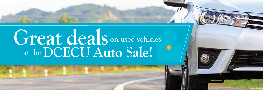 Great deals on used vehicles at the DCECU Auto Sale!