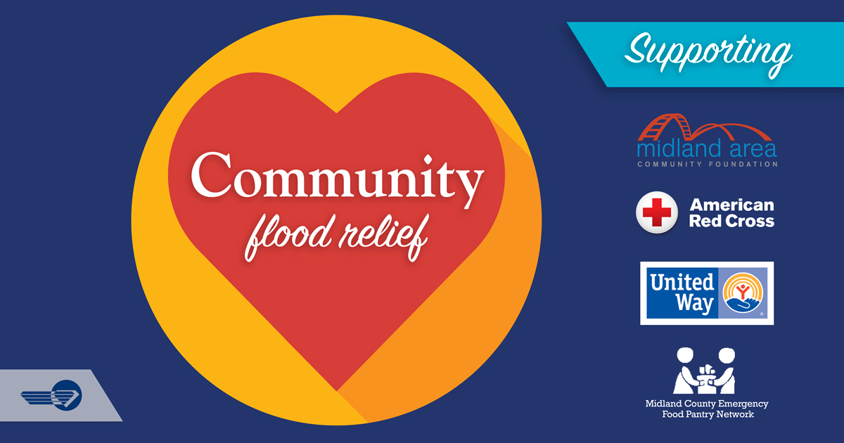 DCECU Community Flood Relief banner graphic