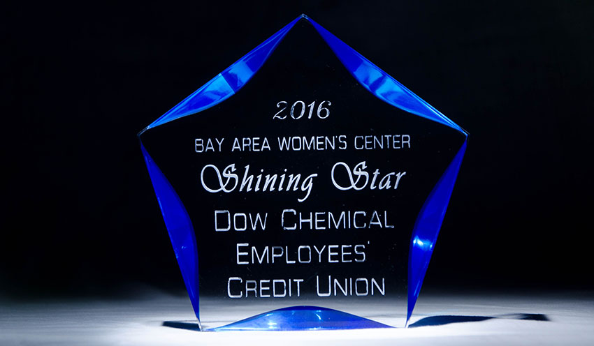 2016 Bay Area Women's Center Shining Star -- Dow Chemical Empoyees' Credit Union